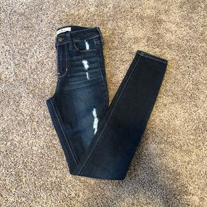 Hollister Ripped High-Rise Super Skinny Jeans